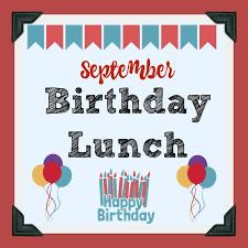 September Birthday Lunch & Bookstore - 9/24