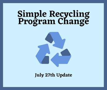 Simple Recycling Program Change