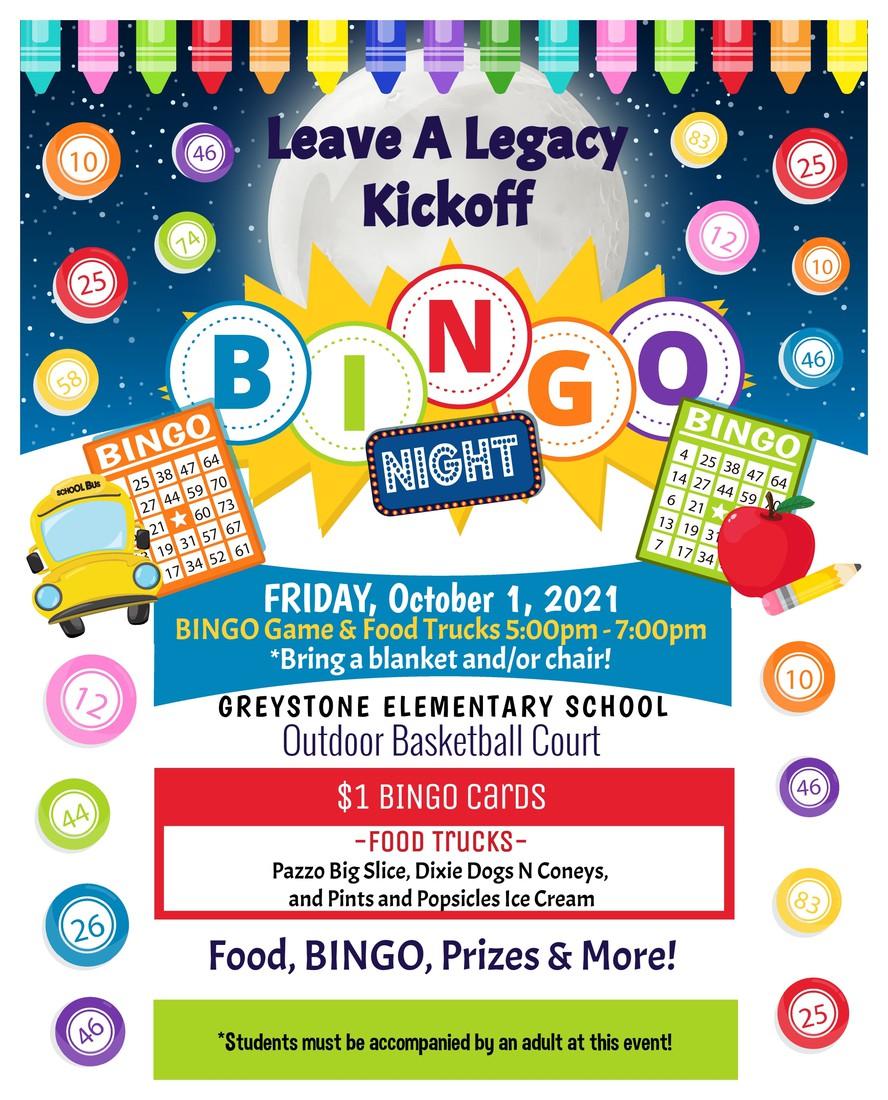 Bingo Night October 1st