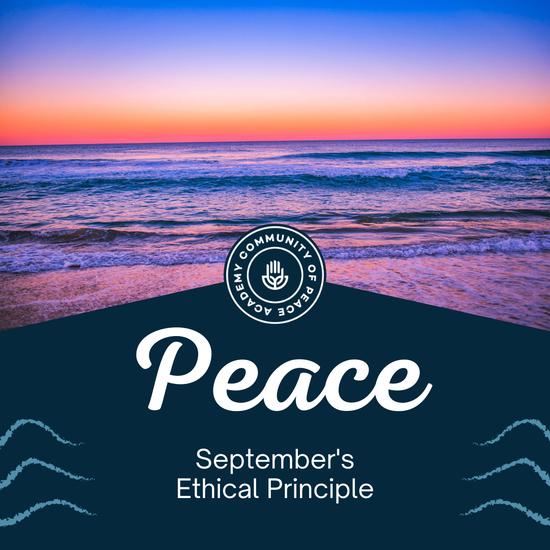 Peace. September's Ethical Principle. CPA Logo.