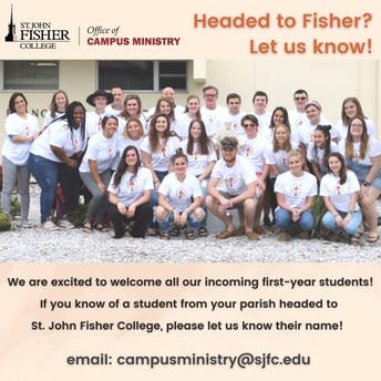 Have a student heading to St. John Fisher in the Fall?