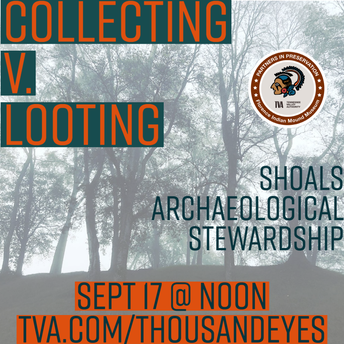 SHOALS ARCHAEOLOGICAL STEWARDSHIP VIRTUAL SPEAKER SERIES:  Collecting v. Looting
