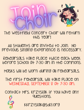 Show Off Your Voice! Join Westfield Choir