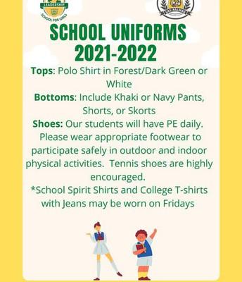 School Uniforms Uniformes escolares