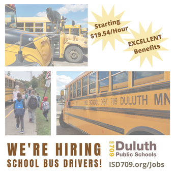 Duluth School Bus Drivers Make A Difference - Apply Today!