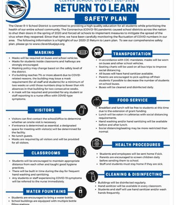 Return To Learn Safety Plan