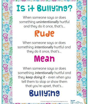Do not be mean & don't bully