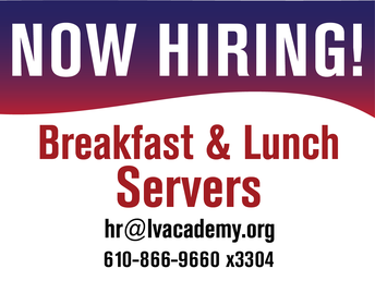 Looking for part-time work? Cafeteria shifts are available for both Breakfast and Lunch Servers.