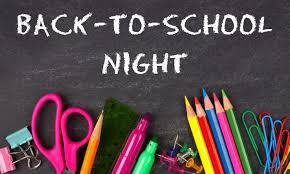 Back-to-School Nights August 18 & 19