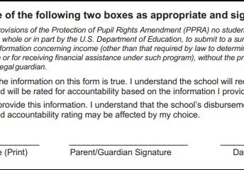 Form #1: Socioeconomic Information Form (blue form)