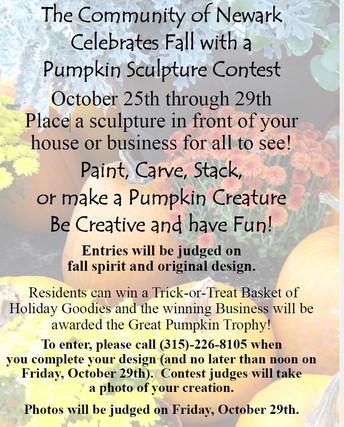 Newark Will Celebrate Fall with a Pumpkin Sculpture Contest