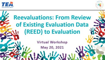 NEW!!! Reevaluations: From REED to Evaluation Recorded Webinar
