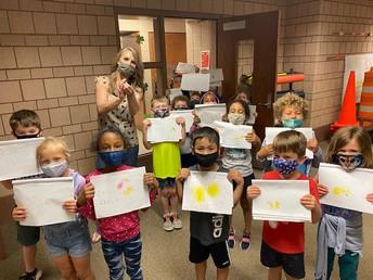 "A ""chick parade"" in kindergarten!"