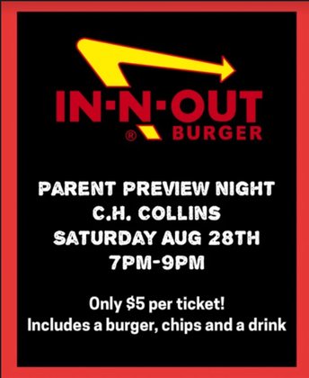 B-Well Band Parent Preview & In-N-out fundraiser