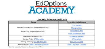 6th-12th Grade - Need Live Help?