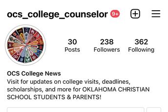 Follow OCS_College_Counselor on Insta for more updates