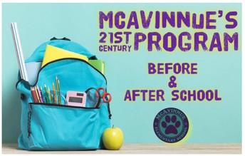 LAST CALL: McAvinnue's 21st Century Before & After School Program