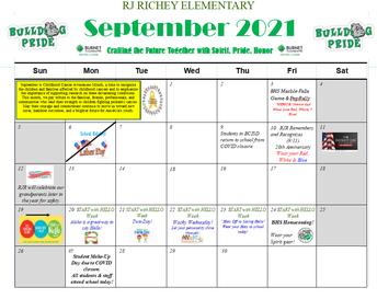 Revised RJR September Campus Calendar