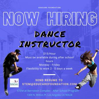 Want to teach Dance?