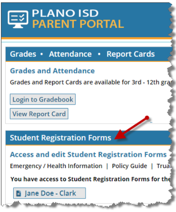 New and Returning Students - Annual Registration Forms