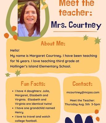 Mrs. Courtney, 3rd Grade