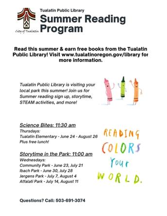 Tualatin Public Library News: