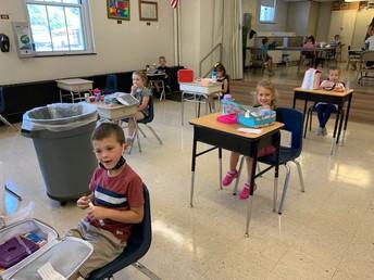 First lunch for Kindergarten!