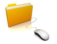 Electronic Blue Folder