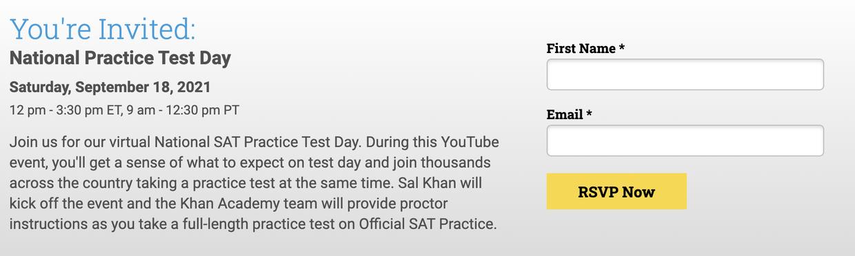 SAT Practice Day