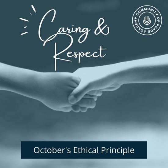 Caring & Respect. October's Ethical Principle. CPA logo.