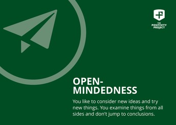 The character trait this week is OPEN MINDEDNESS