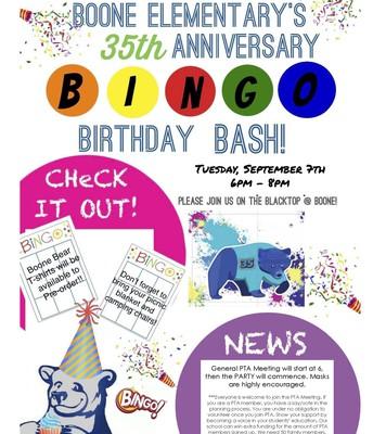 Boone 35th Bingo Birthday Bash!