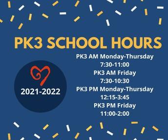Horario de PK3