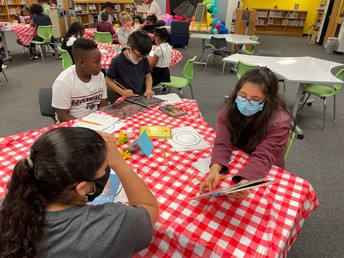 Students had a book tasting to get familiar with different genres.