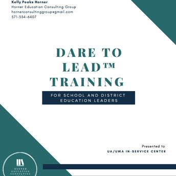 PLUACLD911: Dare to Lead (UA-UWA Regional Inservice Center)