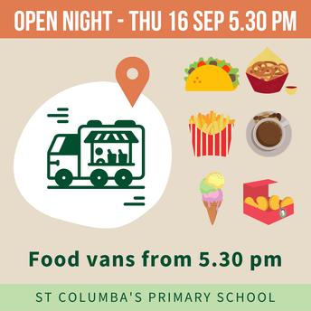Open Night Food Van - located at Kiss & Drive