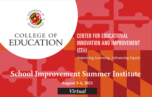 Registration is now open for the 1st Annual UMD School Improvement Summer Institute!