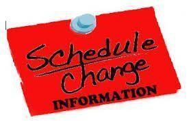 Schedule Change June 17&June 18