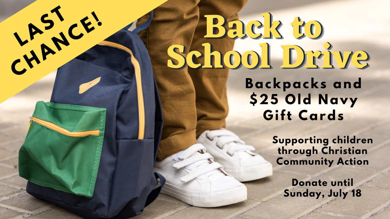 Back to School Drive for CCA Angels