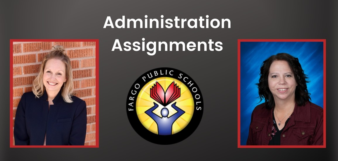 """two women and text saying """"administration assignment"""""""