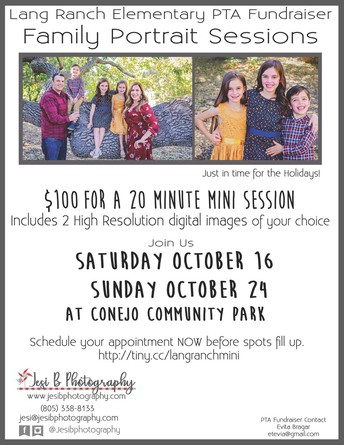 Family Portraits - October 16th and 24th!