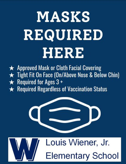 Click to view facial covering/mask information.