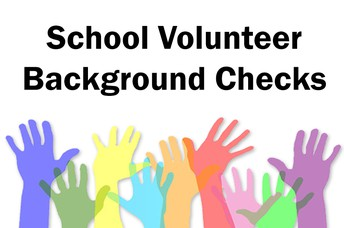 Volunteers and Visitor Background Checks