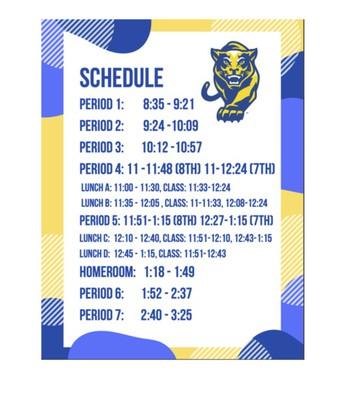 Daily Schedule @ GCJHS