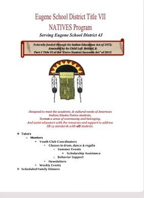 Eugene School District Title VII NATIVES Program