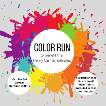 The Henry Carr Memorial Scholarship 5K Color Run/Walk!