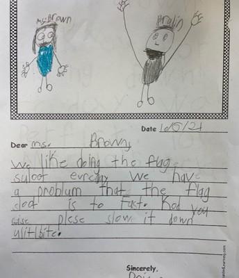 1st grade letter