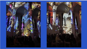 Images from the Lightshow at the Cathedral