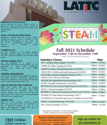 Fall 2021 Virtual STEAM Academy