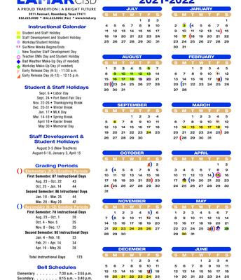 The Instructional Calendar